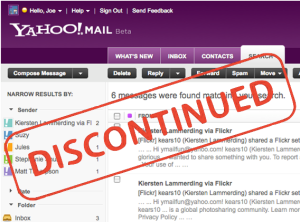 yahoomailclassicdiscontinued