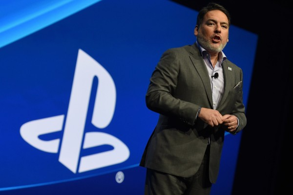 Shawn Layden, president and CEO of Sony Computer Entertainment America, addresses the audience during the Sony Playstation press conference before the opening day of the Electronic Entertainment Expo, known as E3 in Los Angeles, California on June 15, 2015.      AFP PHOTO / MARK RALSTON        (Photo credit should read MARK RALSTON/AFP/Getty Images)
