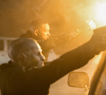 Will Smith and Joel Edgerton in the Netflix original film BRIGHT. Directed by David Ayer